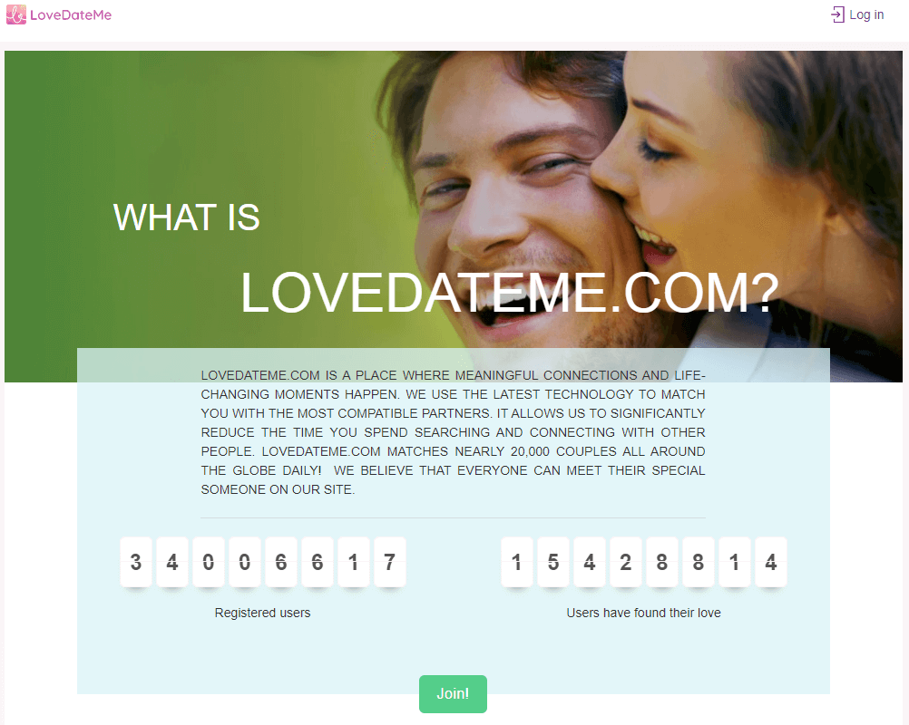 Lovedateme Dating Site pros