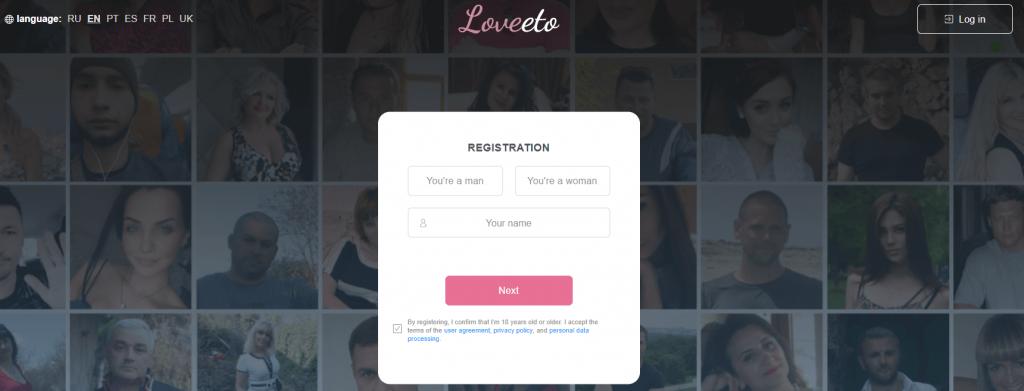 Loveeto dating site registration